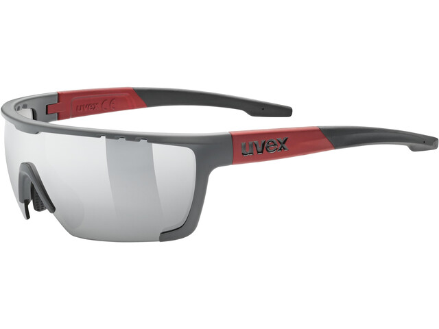 UVEX Sportstyle 707 Glasses grey/red matt/mirror silver
